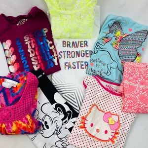 Lot girl's size 14-16 summer tops (8 ct)